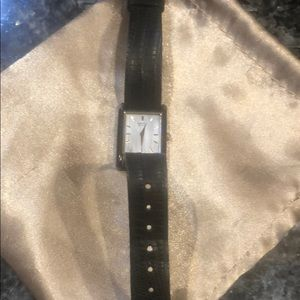 Seiko Swiss watch with leather band and mother of